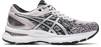 Asics Women Gel-Nimbus 22 Knit Running Shoes in Black/Silver