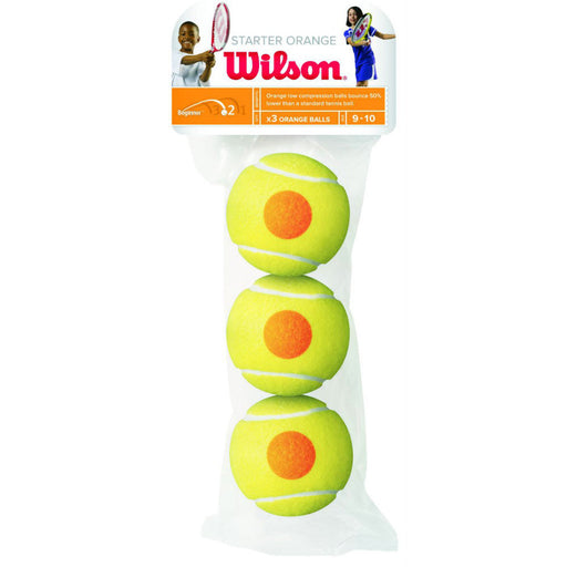 Wilson Starter Orange - 3 Tennis Ball Pack - atr-sports