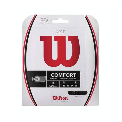 Wilson NXT Comfort 16 Black Tennis String Set - atr-sports