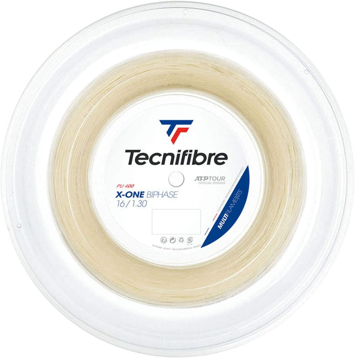 Tecnifibre X-One Biphase 16 Tennis String Reel in Natural 200M