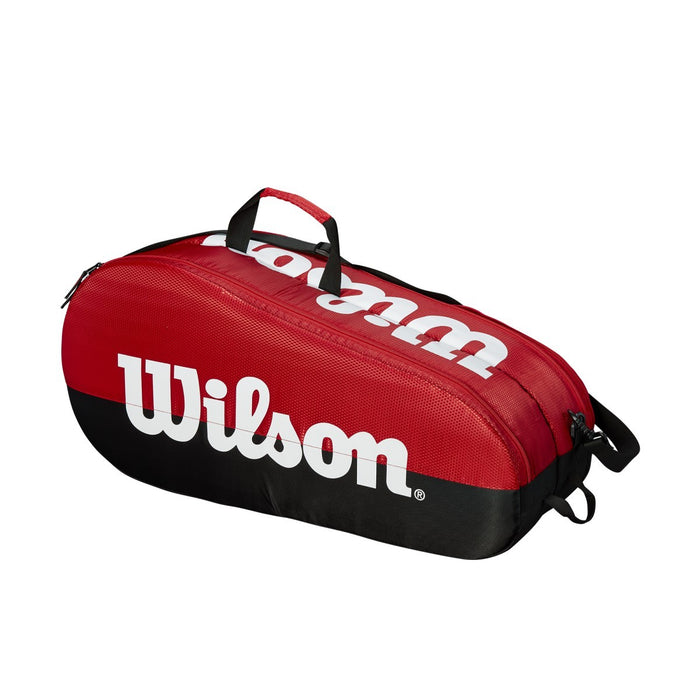 Wilson Team 2 Compartment Racquet  Bag in Black/Red - atr-sports