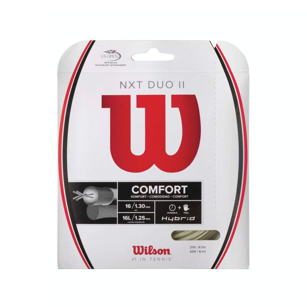 Wilson NXT Duo II Natural Hybrid Tennis String Set - atr-sports
