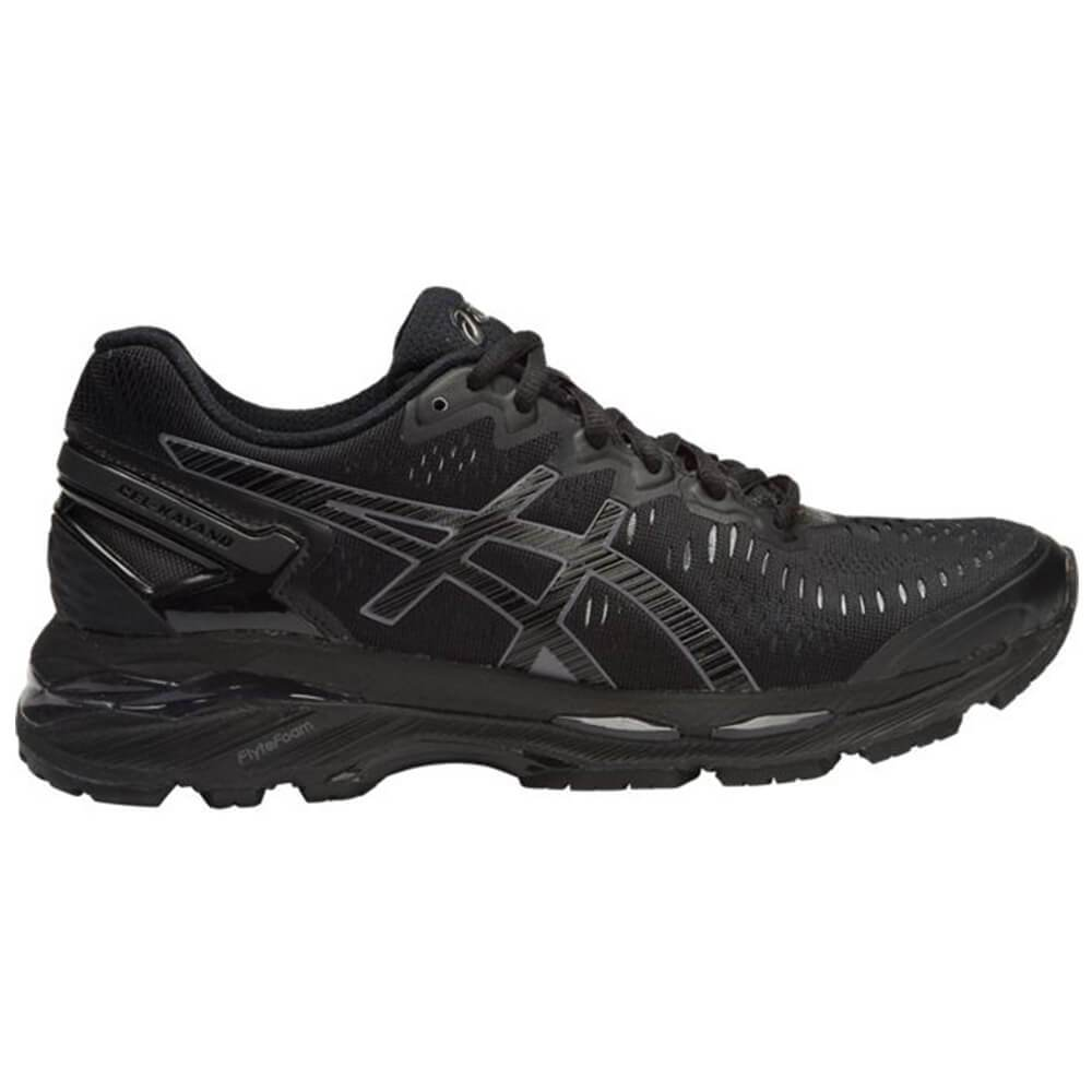lowest price dd27f b16fe Asics Women's Gel-Kayano 23 Width D Running Shoes in Black/Onyx/Carbon