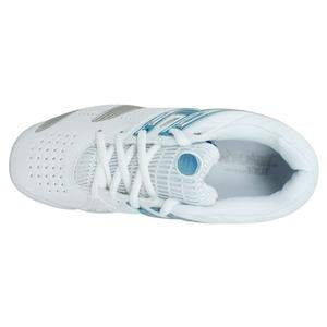 Babolat Women's V-Pro Lady Tennis Shoes in White/Blue/Silver - atr-sports