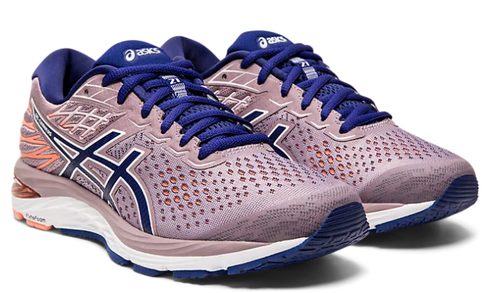 Asics Women's Gel-Cumulus 21 (2A) Running Shoes in Violet Blush/Dive Blue