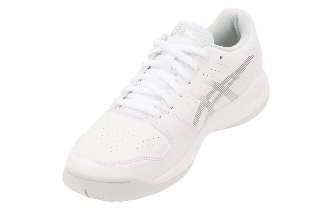 Asics Kid's Gel-Game 7 GS Tennis Shoes in White/Silver