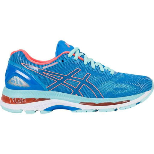 Asics Women's Gel-Nimbus 19 Running Shoes in Diva Blue/Flash Coral/Aqua Splash - ATR Sports
