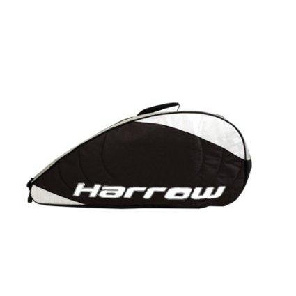 Harrow Pro Racquet Shoulder Bag in Black/Silver - atr-sports