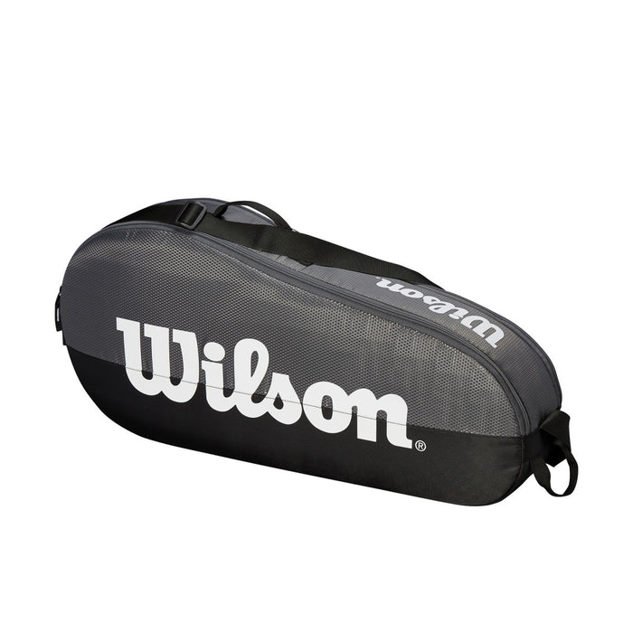 Wilson Federer Team 1 Compartment Small Racquet Bag in Black/White - atr-sports