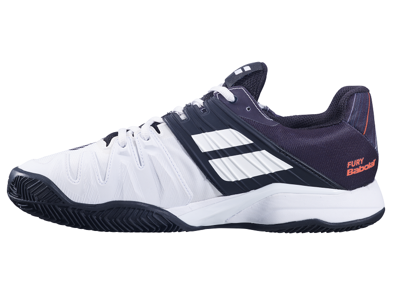 Babolat Propulse Fury Clay Tennis Shoes in White/Black