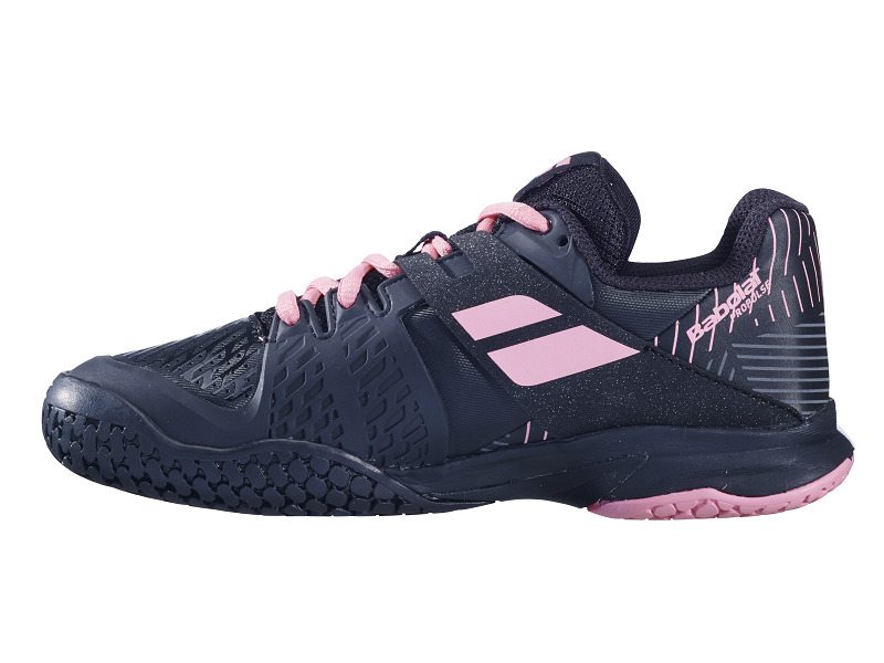 Babolat Junior Propulse Tennis Shoes in Black/Pink