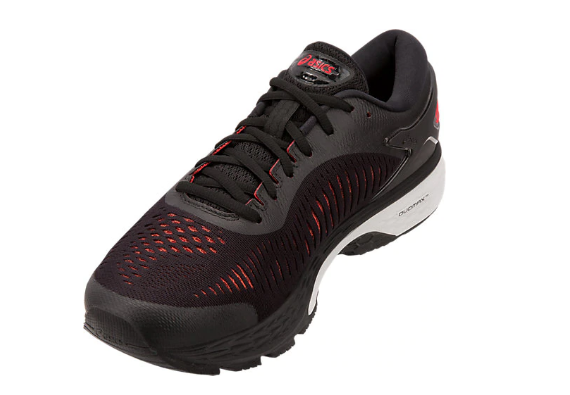 Asics Men's GEL-KAYANO 25 Black/Classic Red Running Shoes - atr-sports