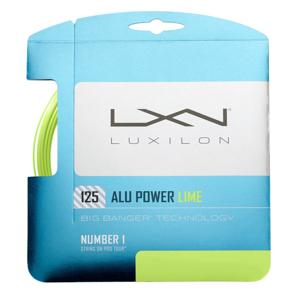 Wilson Luxilon Alu Power 125 Lime Tennis String - atr-sports