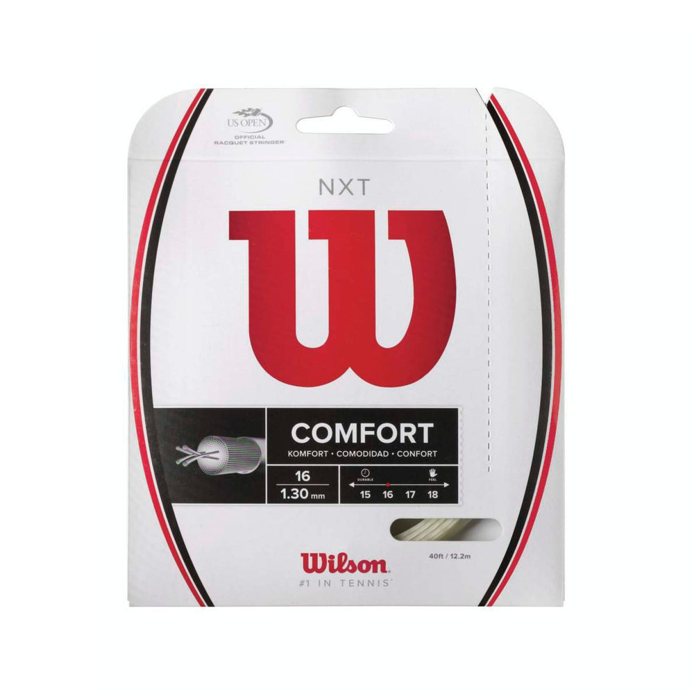 Wilson NXT Comfort 17 Natural Tennis String Set - atr-sports