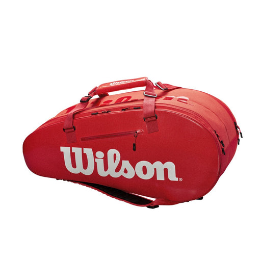 Wilson Super Tour 2 Compartment Large Tennis Bag in Infared - atr-sports