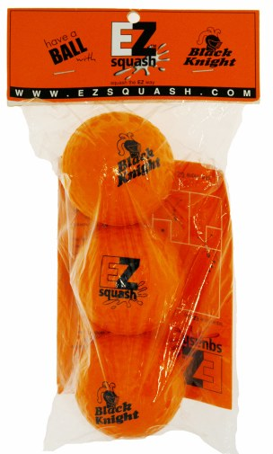 Black Knight EZ Squash Balls for BEGINNERS (3 Pack) - atr-sports