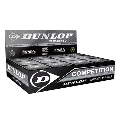 Dunlop Competition Squash Ball - 1 Dozen - atr-sports