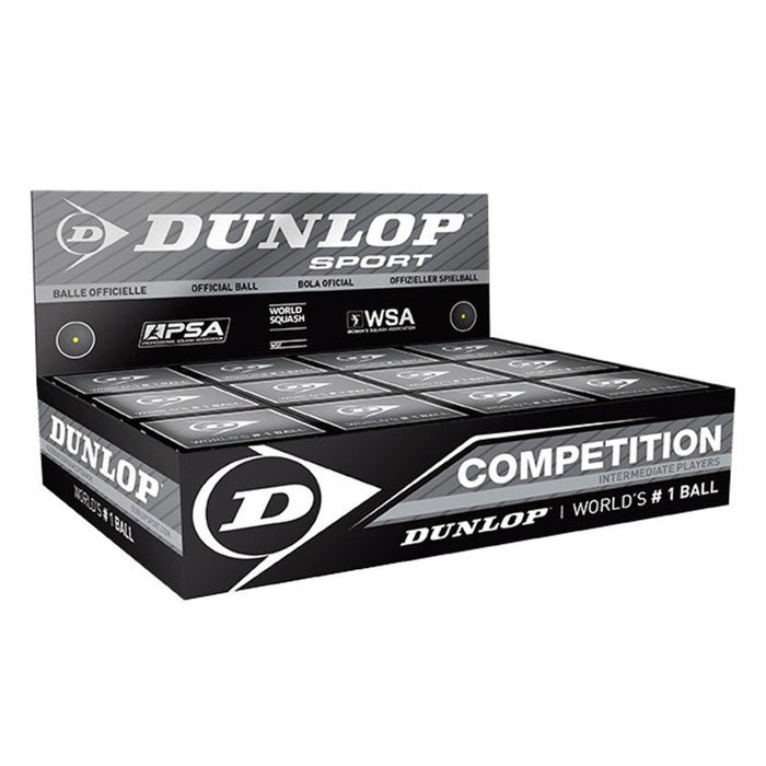 Dunlop Competition Squash Ball - 1 Dozen - ATR Sports
