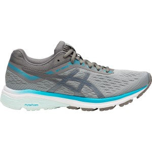 Asics Women's GT 1000-7  Width D Running Shoes in Stone Grey/Carbon - atr-sports