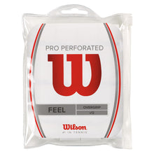 Load image into Gallery viewer, Wilson Pro Perforated Overgrip 12 pack White-ATR Sports