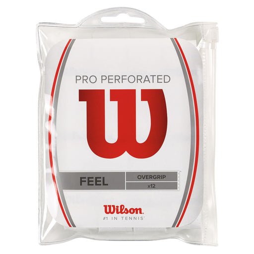 Wilson Pro Perforated Overgrip 12 pack White - atr-sports