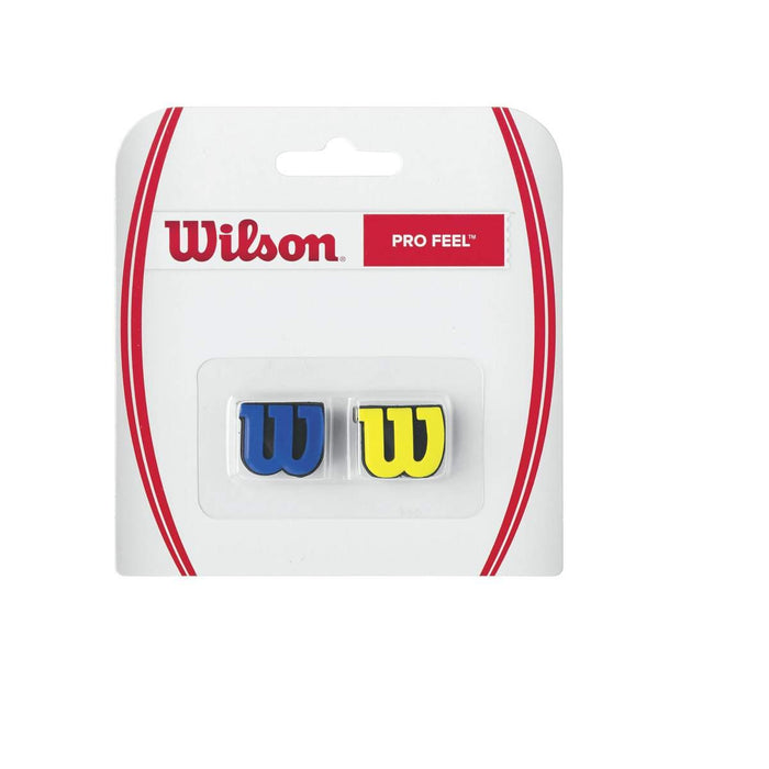 Wilson Pro Feel Racquet Blue Yellow Dampener - atr-sports