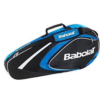Babolat Racquet Holder X 3 Club Racquet Bag in Black/Blue - atr-sports