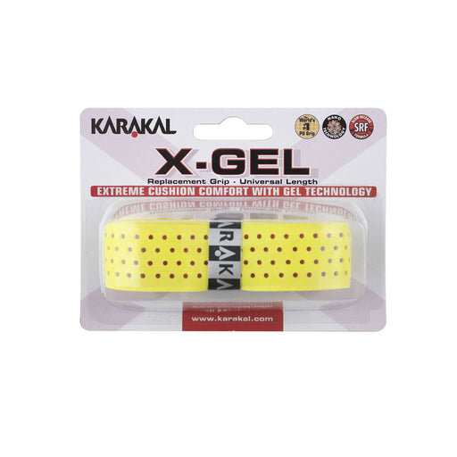 Karakal X-Gel Replacement Grip - Black/White/Blue/Yellow - atr-sports
