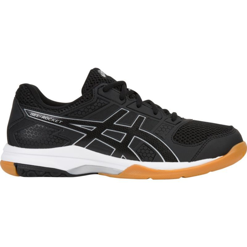 Asics Women's Gel-Rocket 8 Indoor Court Shoes in Black/Black/White - atr-sports