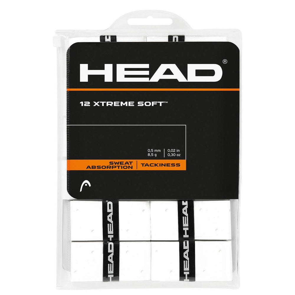 Head XTREME Soft Overgrips - 12 pack (White) - atr-sports