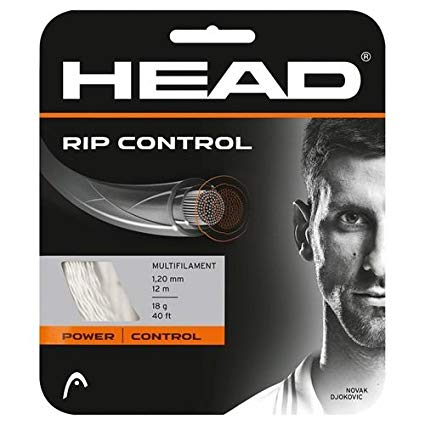 Head Rip Control 17 Tennis String in White - atr-sports