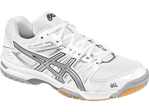 Asics Women's Gel-Rocket 6 Indoor Court Shoes in White/Silver - atr-sports
