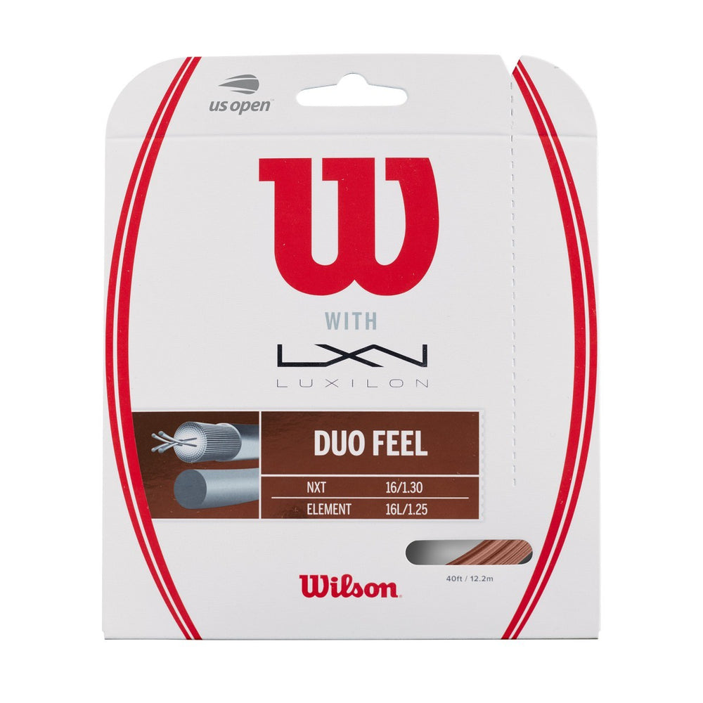 Wilson Duo Feel Element 1.25 & NXT 16 Hybrid Tennis String Set - atr-sports