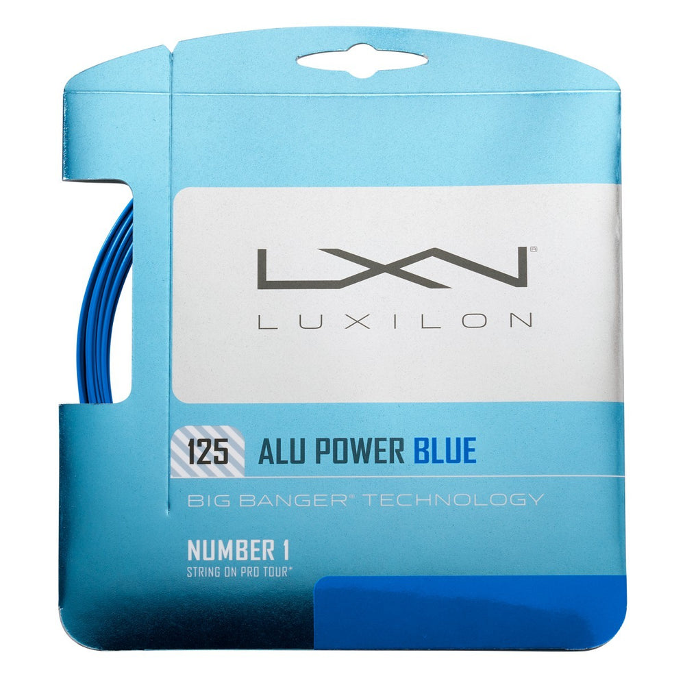 Wilson Luxilon Alu Power 125 Blue Tennis String - atr-sports