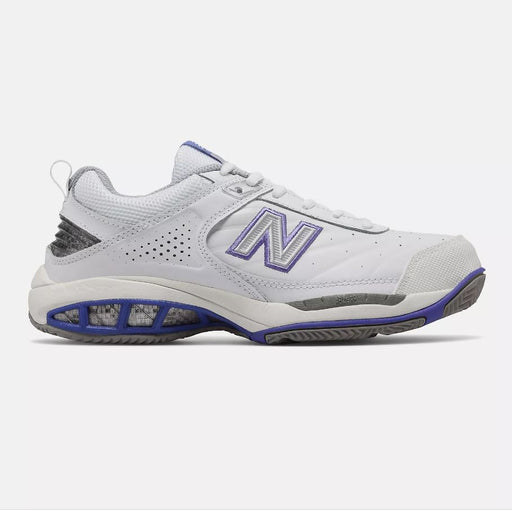 New Balance Women's WC806W Tennis Shoes in White - WIDE WIDTH (2E)