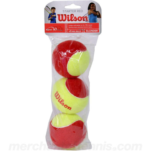 Wilson Starter Red - 3 Tennis Ball Pack - atr-sports
