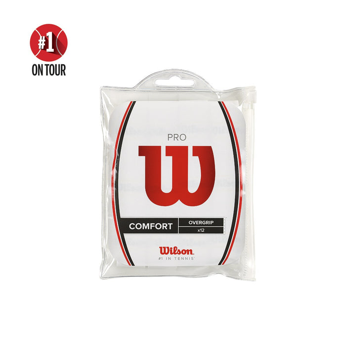 Wilson White 12 Pack Pro Overgrip - atr-sports