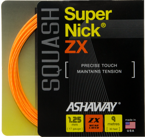 Ashaway Supernick ZX 17 Squash String Set - Orange - atr-sports
