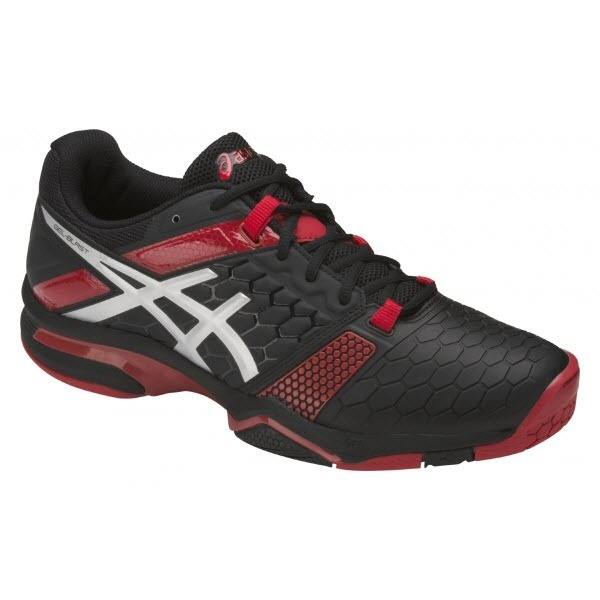 Asics Men's Gel-Blast 7 Indoor Court Shoes in Black/Silver/Prime Red - atr-sports