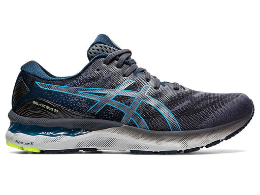 Asics Men's Gel-Nimbus 23 Running Shoes in Carrier Grey/Digital Aqua