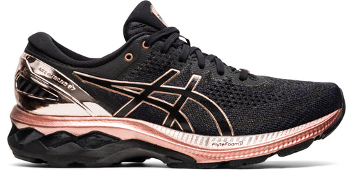 Asics Women's Gel-Kayano 27 Platinum Running Shoes in Black/Rose Gold