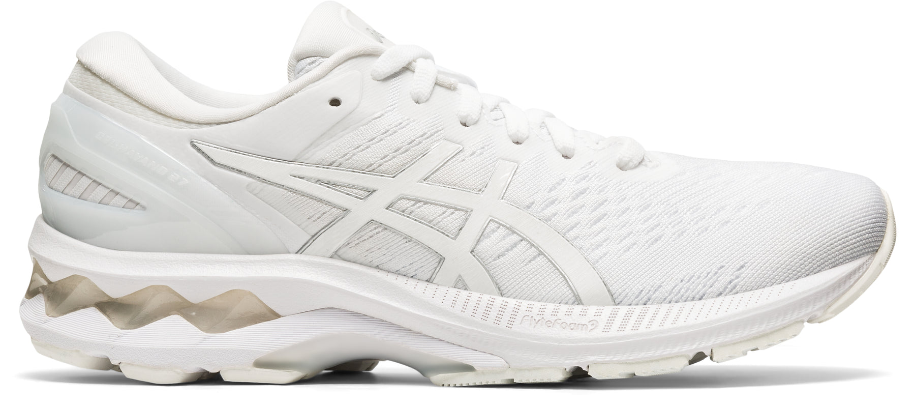 Asics Women's Gel-Kayano 27 Running Shoes in White/White