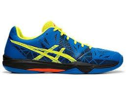 Asics Men's Gel Fastball 3 Indoor Court Shoes in Lake Drive/Sour Yuzu - atr-sports