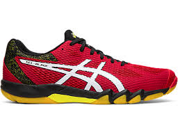 Asics Men's Gel-Blade 7 Indoor Court Shoes in Speed Red/White - atr-sports