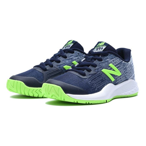 New Balance Kid's 996 V3 Tennis Shoes in Blue/Green - ATR Sports