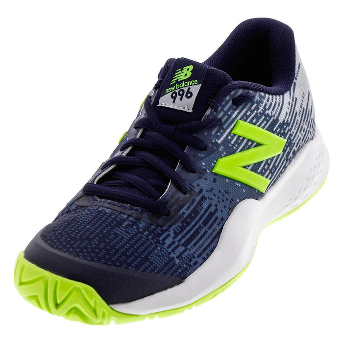 New Balance Kid's 996 V3 Tennis Shoes in Blue/Green - atr-sports