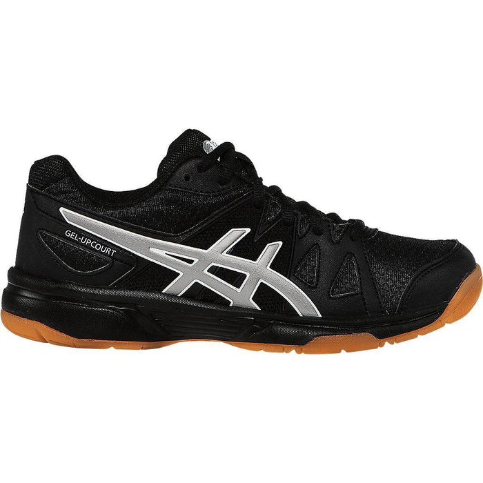 Asics Kid's Gel-Upcourt Indoor Court Shoes in Black/Silver - atr-sports