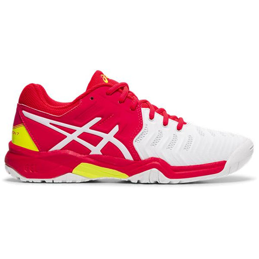 Asics Kid's Gel-Resolution 7 GS Tennis Shoes in White/Laser Pink
