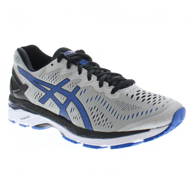 meet 91ded 54d3e Asics Men's Gel-Kayano 23 Width D Running Shoes in Silver/Imperial/Black