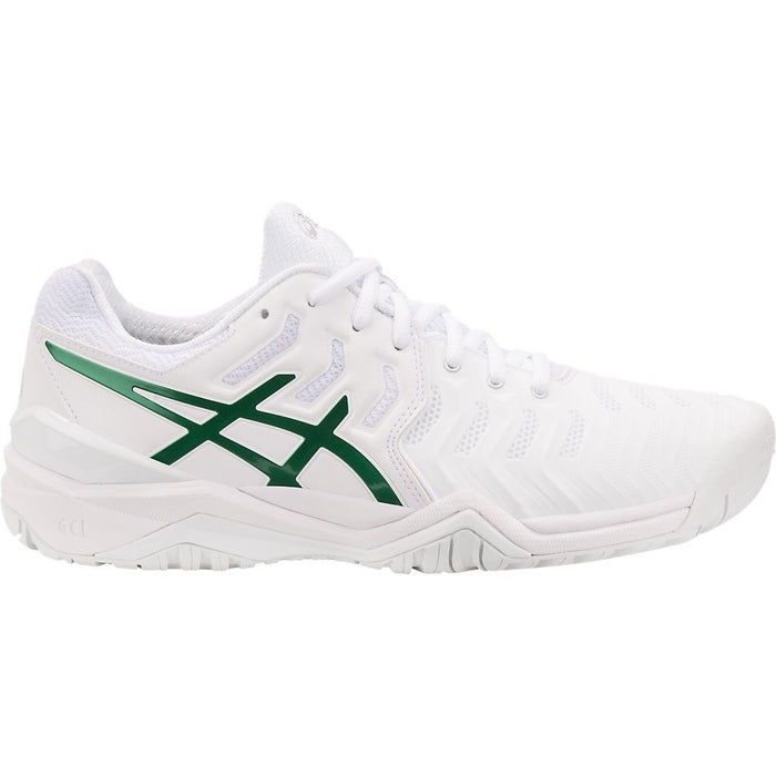 Asics Mens Gel-Resolution Novak Court Tennis Shoes in White/Green - atr-sports